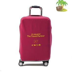 Главное фото розовый эластичный чехол размер S для небольшого чемодана высотой 54-56см. Товары для отдыха. Интернет-магазин В Отпуск