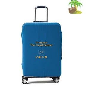 Главное фото голубой эластичный чехол размер М для среднего чемодана высотой 64-66см. Товары для отдыха. Интернет-магазин В Отпуск