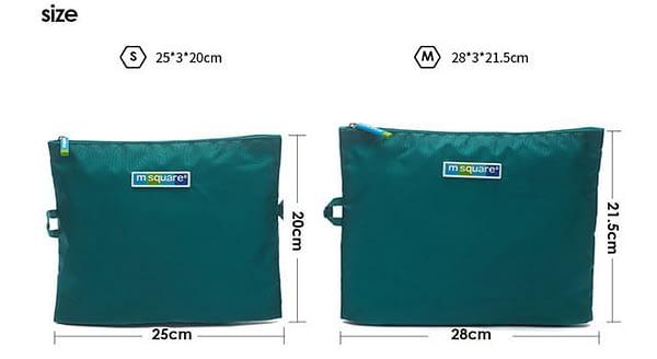 Фото размеры бирюзовых мешочков для белья и мелочей на молнии. Товары для отдыха. Интернет-магазин В Отпуск
