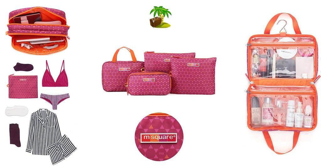 Фото для соцсетей подарок для мамы розовый. Набор косметичка, органайзер для гаджетов и мешочки на молнии
