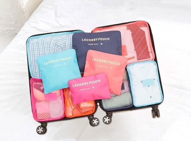Фото палитра наборов сумочек в чемодан. Интернет-магазин В Отпуск