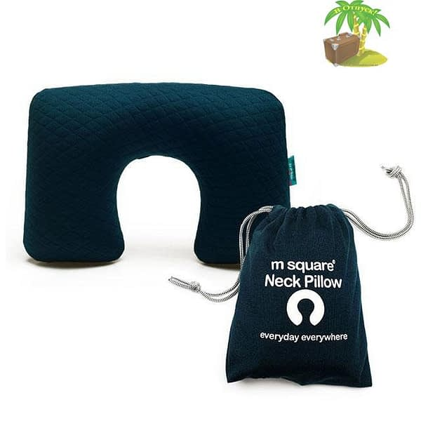 MS-063-Надувная подушка синяя для автомобиля и перелетов главное фото. Товары для отдыха. Интернет-магазин В Отпуск