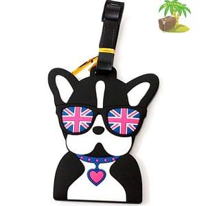 """ВВ-18 Бирка для багажа Собака в очках фото анфас товары для путешественников интернет-магазин """"В Отпуск"""" от SeredinaLeta"""