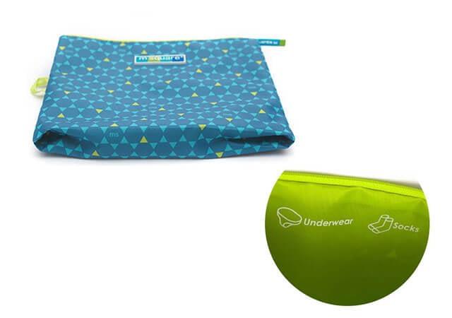 Фото мешочки для белья и одежды на молнии в синий ромб. Цвет изнанки. Товары для отдыха. Интернет-магазин В Отпуск