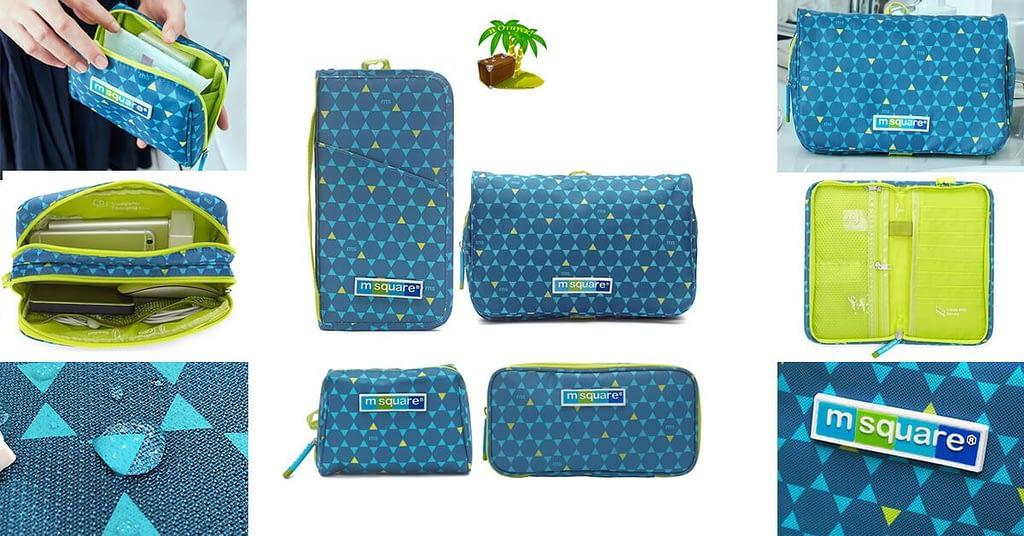 Фото для соцсетей подарочный набор подруге синий ромб. Подарочный набор 2 косметички, органайзер для документов и для гаджетов