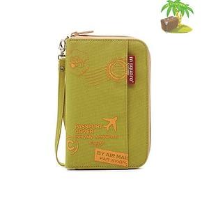 DOP-047 Компактный органайзер для документов, посадочных талонов, билетов, купюр и паспортов зеленый с принтом главное фото