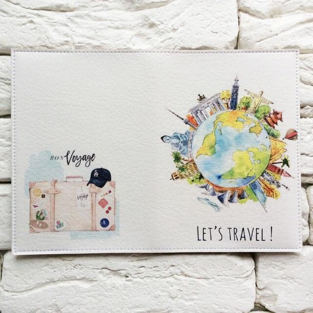 Фото разворот паспортной обложки Вокруг света. Коллекция обложек Путешествуй!