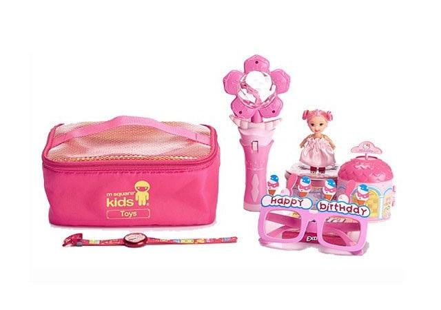 MS-001K Фото розовый детский набор сумок из 4х элементов - сумка для игрушек. Товары для отдыха интернет-магазин В Отпуск