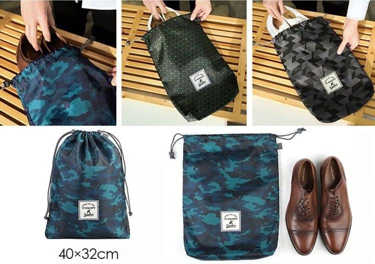 Фото мешочек для обуви в наборе сумочек. Товары для отдыха. Интернет-магазин В Отпуск