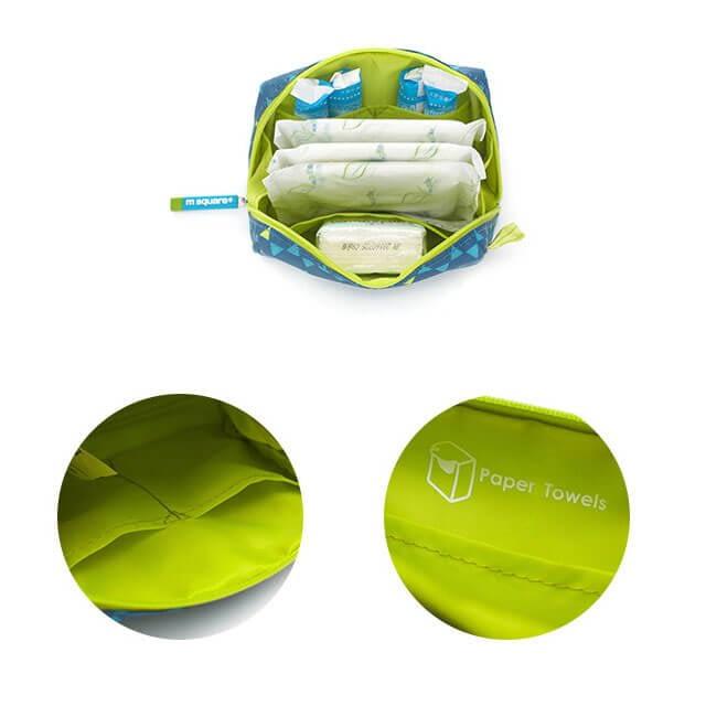 Фото косметичка для прокладок и тампонов синий ромб детали качества. Товары для отдыха. Интернет-магазин В Отпуск