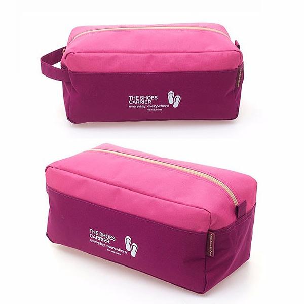 Фото розовый тканевый чехол для обуви сбоку. Товары для отдыха. Интернет-магазин В Отпуск