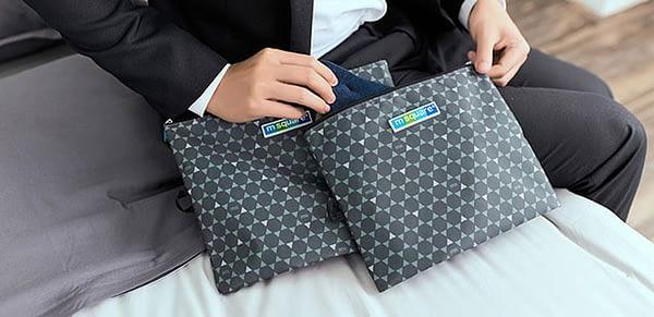 Фото мешочки для белья и одежды на молнии в серый ромб в деловой командировке. Товары для отдыха. Интернет-магазин В Отпуск