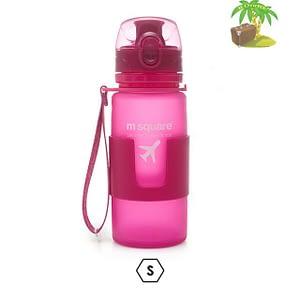 Главное фото розовая бутылка для воды из мягкого силикона размер S 350мл. Товары для отдыха. Интернет-магазин В Отпуск