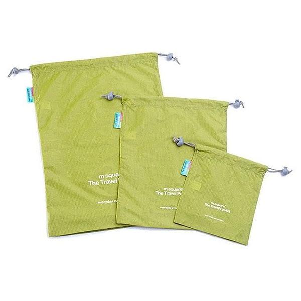 MS-013 Набор зеленых водонепроницаемых мешочков для белья фото комплекта 2. Товары для отдыха. Интернет-магазин В Отпуск