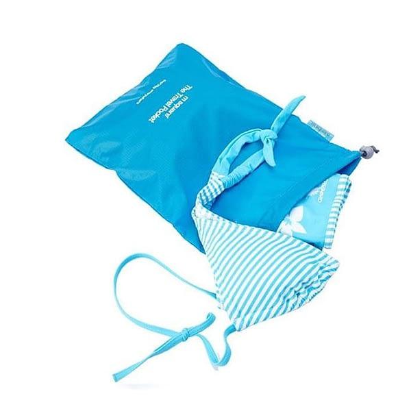 MS-016 Набор голубых водонепроницаемых мешочков для белья фото с купальником. Товары для отдыха. Интернет-магазин В Отпуск