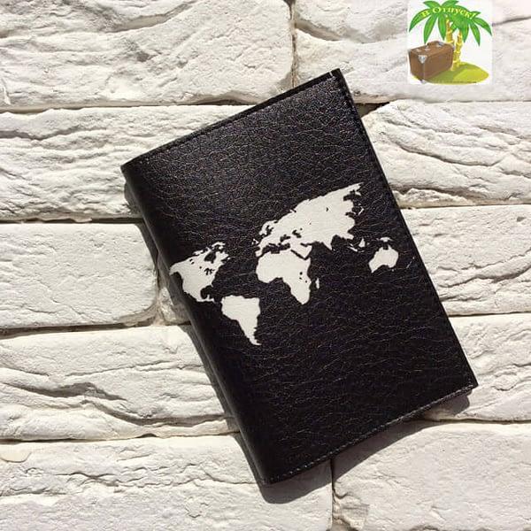 Главное фото паспортная обложка Let`s travel черная . Коллекция обложек Путешествуй!