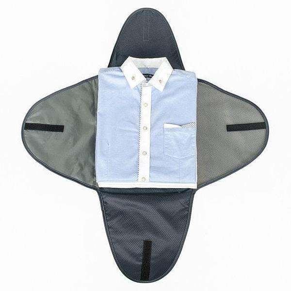 PO-04 Серый органайзер для рубашек, юбок и брюк. Фото 2 упаковка рубашки. Товары для отдыха. Интернет-магазин В Отпуск