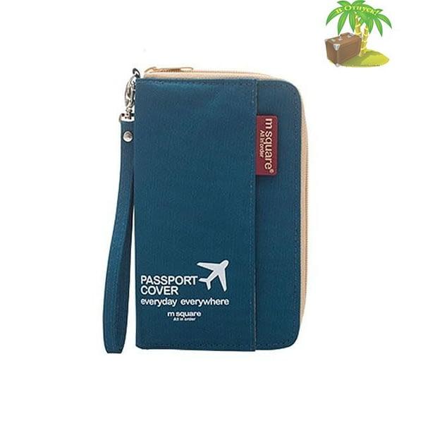 DOP-044 Компактный органайзер для документов, посадочных талонов, билетов, купюр и паспортов синий главное фото
