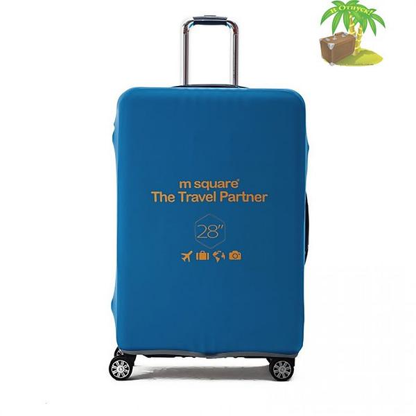 Главное фото голубой эластичный чехол размер L для большого чемодана высотой 66-76см. Товары для отдыха. Интернет-магазин В Отпуск