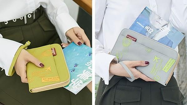 Фото примеров серого и зеленого ораганайзеров для документов в жизни. Товары для отдыха. Интернет-магазин В Отпуск