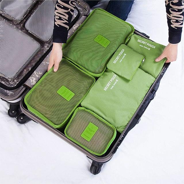 DS-12SR Фото упаковка разными размерами сумочек зеленого набора из 6шт. сумочек. Товары для отдыха. Интернет-магазин В Отпуск