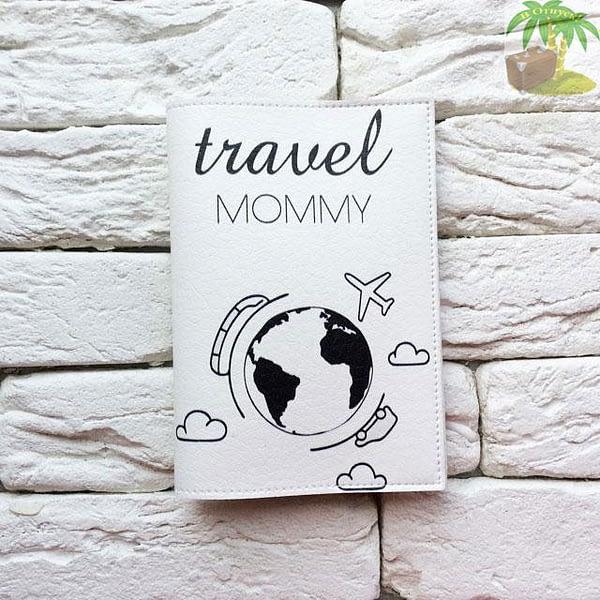 Обложка на паспорт Travel Mommy белая арт 034 Фото 4