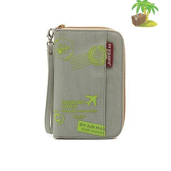 DOP-048 Компактный органайзер для документов, посадочных талонов, билетов, купюр и паспортов серый с принтом главное фото