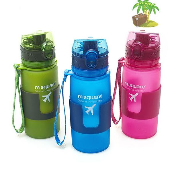 Фото цвета силиконовых бутылочек меньшего размера S емкостью 350мл. Товары для отдыха. Интернет-магазин В Отпуск