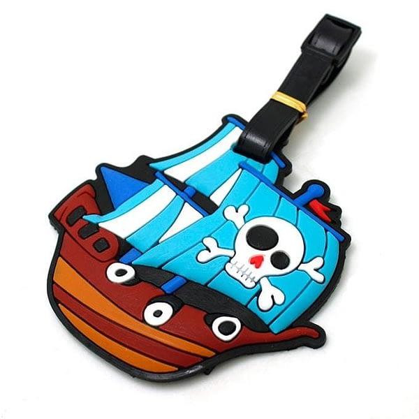 """ВВ-08 Бирка для багажа Пиратский корабль фото сбоку товары для путешественников интернет-магазин """"В Отпуск"""" от SeredinaLeta"""