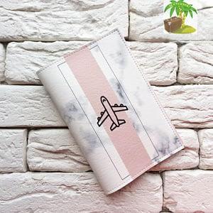 Главное фото паспортная обложка Самолет мрамор. Коллекция обложек Путешествуй!