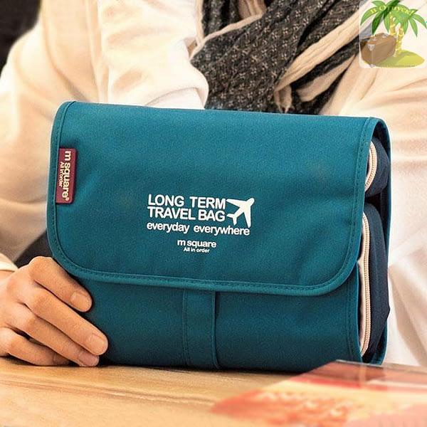 Дорожная раскладная косметичка синяя MS01-06BL Фото 4