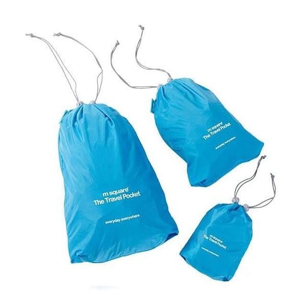 MS-016 Набор голубых водонепроницаемых мешочков для белья фото комплекта. Товары для отдыха. Интернет-магазин В Отпуск