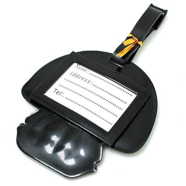 """ВВ-32 Бирка для багажа Черепушка фото сзади товары для путешественников интернет-магазин """"В Отпуск"""" от SeredinaLeta"""
