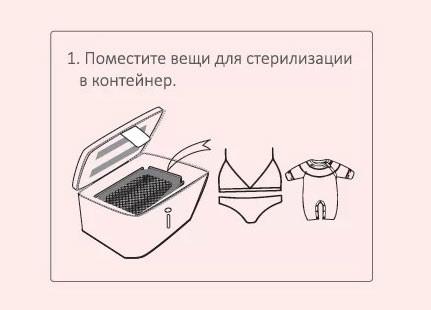 Фото инструкция использования сумки-стерилизатора для белья шаг 1