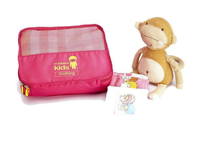 MS-001K Фото 1 одежная сумка. Розовый детский набор сумок из 4х элементов. Товары для отдыха интернет-магазин В Отпуск