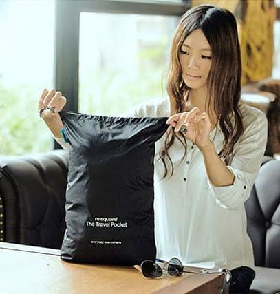 MS-014 Набор черных водонепроницаемых мешочков для белья фото в использовании 2. Товары для отдыха. Интернет-магазин В Отпуск