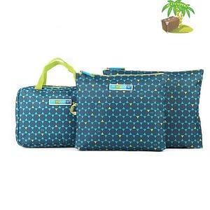 Главное фото подарок свекрови синий. Набор косметичка с вешалкой и мешочки на молнии