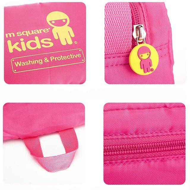 MS-001K Фото 1 детали фурнитура и материал розового детского набора сумок из 4х элементов. Товары для отдыха интернет-магазин В Отпуск