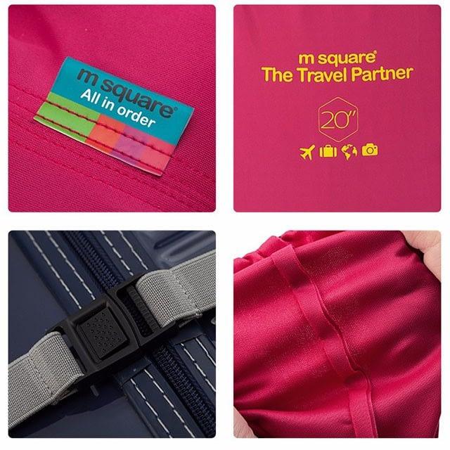 Фото демонстрация деталей изготовления розового эластичного чехла для чемоданов Travel Partner. Товары для отдыха. Интернет-магазин В Отпуск