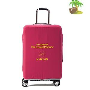 Главное фото розовый эластичный чехол размер М для среднего чемодана высотой 64-66см. Товары для отдыха. Интернет-магазин В Отпуск