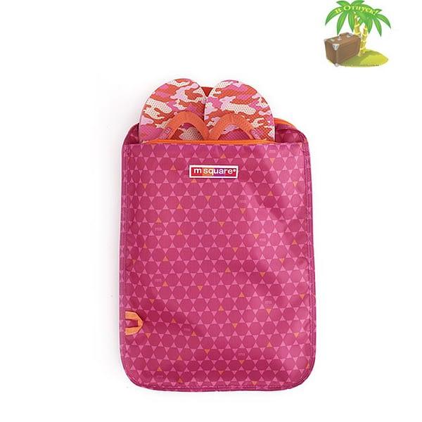 Фото оборот с карманом розового чехла для обуви в ромбик. Товары для отдыха. Интернет-магазин В Отпуск