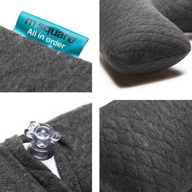 MS-061-Надувная подушка серая фото детали качества материала
