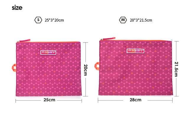 Фото размеры комплекта мешочков на молнии розовый ромбик. Товары для отдыха. Интернет-магазин В Отпуск