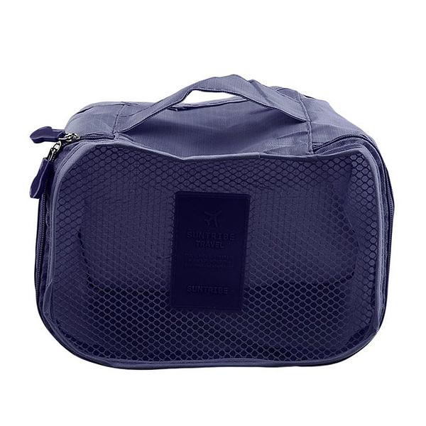 DS-10S Фото элемент синего набора сумочек в чемодан. Кубик с сеткой. Товары для отдыха. Интернет-магазин В Отпуск