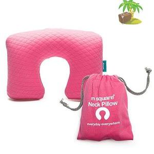 MS-062-Надувная подушка розовая для автомобиля и перелетов главное фото. Товары для отдыха. Интернет-магазин В Отпуск