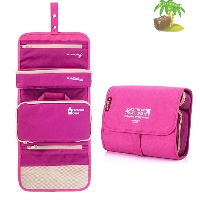 Фото розовая косметичка - трансформер из большого розового подарочного набора.