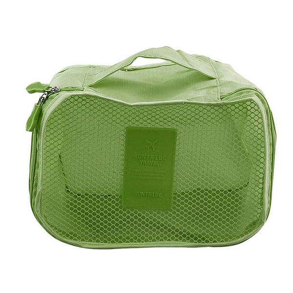 DS-12SR Фото элемент зеленого набора сумочек в чемодан. Кубик с сеткой.Товары для отдыха. Интернет-магазин В Отпуск