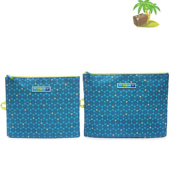 Главное фото мешочки для белья и одежды на молнии в синий ромб. Товары для отдыха. Интернет-магазин В Отпуск