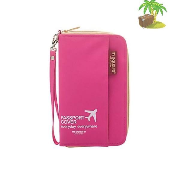 DOP-028 Компактный органайзер для документов, посадочных талонов, билетов, купюр и паспортов розовый главное фото