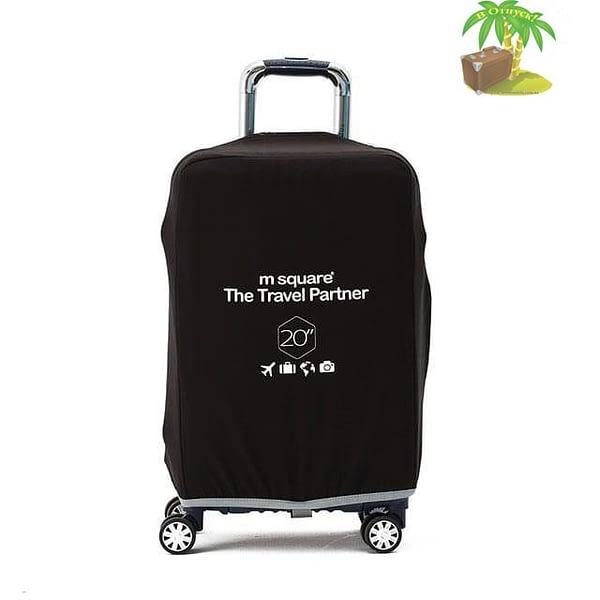 Главное фото черный эластичный чехол размер S для небольшого чемодана высотой 54-56см. Товары для отдыха. Интернет-магазин В Отпуск